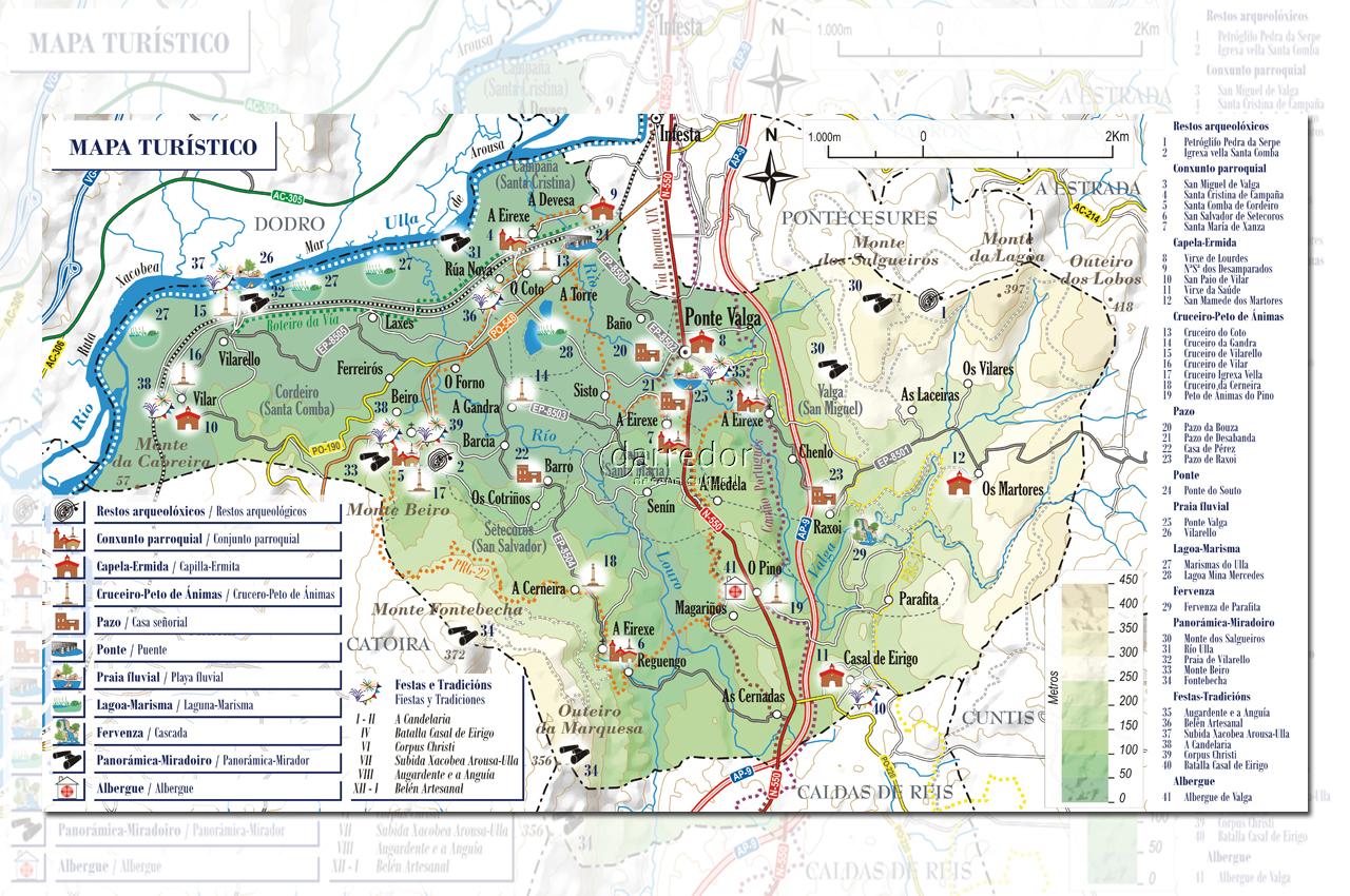 Mapa turístico de Valga