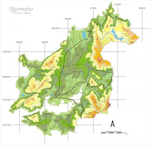 Mapa físico Mancomunidade de Ferrol
