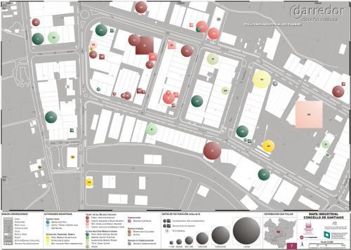 Detalle mapa industrial Santiago de Compostela