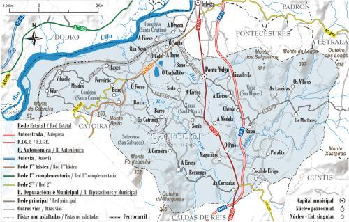 Mapa concello de Valga