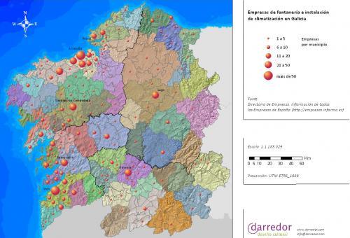 Empresas de fontanería e instalación de climatización en Galicia