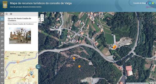 Mapa de recursos turísticos do concello de Valga