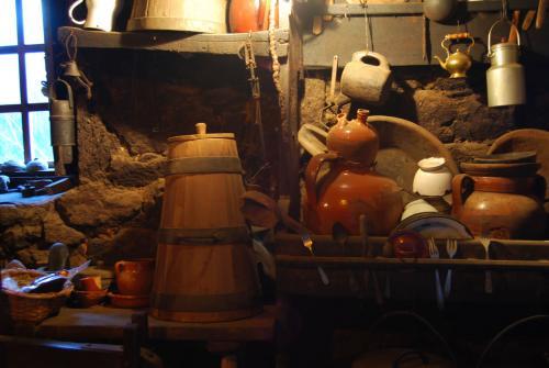 Cociña dunha palloza de Piornedo, Os Ancares. Cervantes (Lugo)