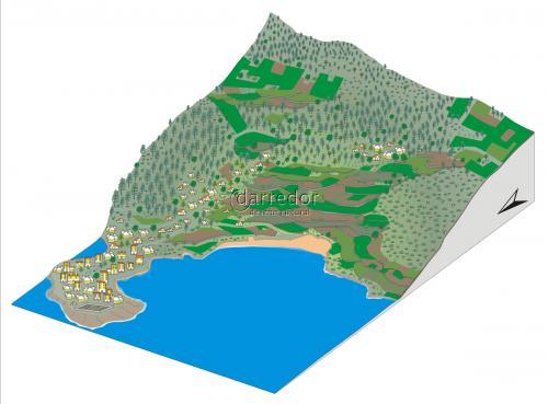 Modelo paisaxe costeira