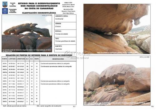Ficha de inventario xeomorfolóxico para a costa de Camariñas
