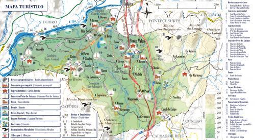 Mapa turístico concello de Valga