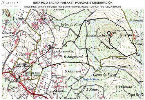 Ruta Pico Sacro. Mapa de ruta